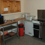 The Kitchen next to the Community Room is available for private or commercial use